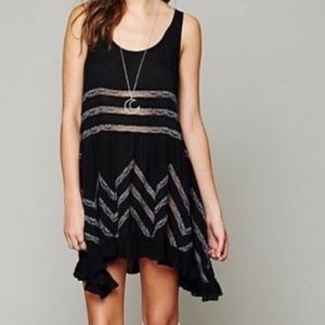 Free People / Voile and Lace Trapeze Slip Dress